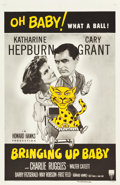 "Movie Posters:Comedy, Bringing Up Baby (RKO, R-1955). One Sheet (27"" X 41"").. ..."