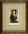 Photography:Cabinet Photos, Herbert Beerbohm Tree, actor (1852-1917). SIGNED Cabinet CardDepicting Herbert Beerbohm Tree, Framed. Undated. ...