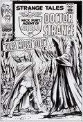 Original Comic Art:Covers, Bruce McCorkindale Strange Tales #154 Cover RecreationOriginal Art (2012)....