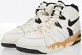 Basketball Collectibles:Others, Mark Bryant Game Worn, Signed Sneakers....