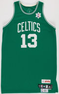 Basketball Collectibles:Uniforms, 2008-09 Gabe Pruitt Game Worn Boston Celtics Holiday Jersey....