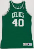 Basketball Collectibles:Uniforms, 1994-95 Dino Radja Game Worn Boston Celtics Jersey....
