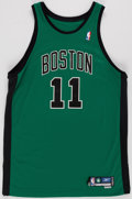 Basketball Collectibles:Uniforms, 2005-06 Marcus Banks Game Worn Boston Celtics Jersey....