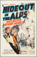 "Movie Posters:Crime, Hideout in the Alps (Grand National, 1937). One Sheet (27"" X 41"").Crime.. ..."