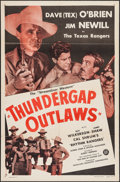 """Movie Posters:Western, Bad Men of Thunder Gap (PRC, R-1947). One Sheet (27"""" X 41""""). Western. Edited Reissue Title: Thundergap Outlaws.. ..."""