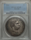 Coins of Hawaii: , 1883 $1 Hawaii Dollar XF45 PCGS. PCGS Population (174/266). NGCCensus: (66/214). Mintage: 500,000. ...