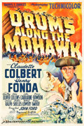 "Movie Posters:Adventure, Drums Along the Mohawk (20th Century Fox, 1939). One Sheet (27.25""X 41"") Style B.. ..."