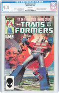 Modern Age (1980-Present):Superhero, Transformers #1 (Marvel, 1984) CGC NM 9.4 White pages....