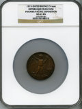 Expositions and Fairs, 1915 Panama Pacific Exposition, Republique Francaise, MS63 BrownNGC. Bronze, 51mm. Accompanied by its original box, Very Fi...