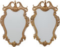 Decorative Arts, French, A PAIR OF LOUIS XV-STYLE GILT BRONZE MIRRORS, 20th century. 34-1/4inches high (87.0 cm). ... (Total: 2 Items)