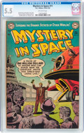 Golden Age (1938-1955):Science Fiction, Mystery in Space #11 (DC, 1953) CGC FN- 5.5 Off-white pages....
