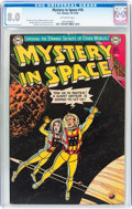 Golden Age (1938-1955):Science Fiction, Mystery in Space #16 (DC, 1953) CGC VF 8.0 Off-white pages....