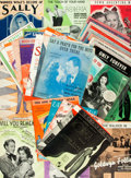 Books:Music & Sheet Music, [Sheet Music]. Group of Thirty-Seven Sets of Popular Sheet Musicfrom Broadway and Film. Various publishers, circa 1924-1942...