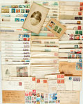 Miscellaneous:Ephemera, [Philately]. Large Lot of Over Eighty International Stamps, FirstDay Covers, Postcards, Canceled Envelopes, etc. Circa 1900...