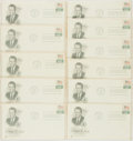 Miscellaneous:Ephemera, [Richard Nixon]. Group of Eleven Inaugural Philatelic First DayCovers. Each with cancellation stamp from Washington, D. C. ...