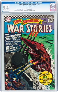 Star Spangled War Stories #127 (DC, 1966) CGC NM 9.4 Off-white pages