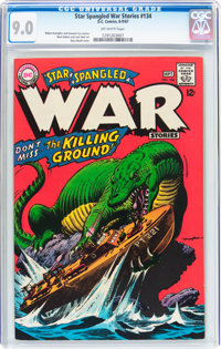 Star Spangled War Stories #134 (DC, 1967) CGC VF/NM 9.0 Off-white pages
