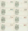 Miscellaneous:Ephemera, Group of Eight U.S. Postal Service Bicentennial Series PhilatelicFirst Day Covers. Each with cancellation stamp from Philad...