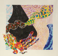 Prints, NANCY GRAVES (American, 1940-1995). Borborygmi, 1988. Aquatint with colors. 49 x 49 inches (124.5 x 124.5 cm) (sheet). E...