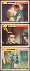 "Movie Posters:Hitchcock, I Confess (Warner Brothers, 1953). Lobby Cards (3) (11"" X 14"").Hitchcock.. ... (Total: 3 Items)"