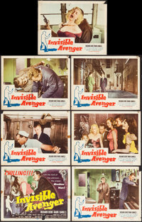 """Invisible Avenger (Republic, 1958). Title Lobby Card & Lobby Cards (6) (11"""" X 14""""). Action. ... (Total..."""