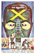 """Movie Posters:Science Fiction, X - The Man with the X-Ray Eyes (American International, 1963). One Sheet (27"""" X 41"""").. ..."""