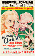 """Movie Posters:Drama, No More Orchids (Columbia, 1932). Window Card (14"""" X 22"""").. ..."""