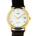 Timepieces:Wristwatch, Tissot 18k Gold Automatic Wristwatch. ...