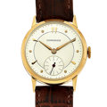 Timepieces:Wristwatch, Longines Movement With A Custom 18k Gold Case Wristwatch. ...
