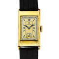 Timepieces:Wristwatch, Vintage Omega 14k Gold Wristwatch. ...