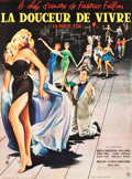"Movie Posters:Foreign, La Dolce Vita (Cineriz, 1959). Full-Bleed French Grande (46.5"" X62"").. ..."