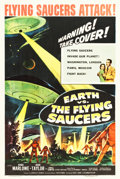 "Movie Posters:Science Fiction, Earth vs. the Flying Saucers (Columbia, 1956). One Sheet (27.25"" X40.75"").. ..."