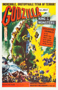 "Movie Posters:Science Fiction, Godzilla (Trans World, 1956). One Sheet (26.75"" X 41"").. ..."