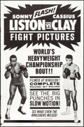 "Movie Posters:Sports, Liston vs. Clay (20th Century Fox, 1964). One Sheet (27"" X 41"").Sports.. ..."