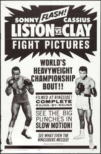 "Liston vs. Clay (20th Century Fox, 1964). One Sheet (27"" X 41""). Sports"
