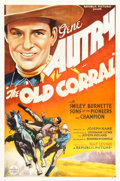 "Movie Posters:Western, The Old Corral (Republic, 1936). One Sheet (27"" X 41"").. ..."