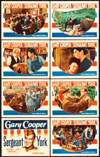 "Sergeant York (Warner Brothers, 1941). Lobby Card Set of 8 (11"" X 14""). ... (Total: 8 Items)"