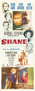 "Movie Posters:Western, Shane (Paramount, 1953). Insert (14"" X 36"").. ..."