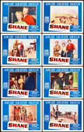 "Movie Posters:Western, Shane (Paramount, 1953). Lobby Card Set of 8 (11"" X 14"").. ...(Total: 8 Items)"