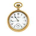 Timepieces:Pocket (post 1900), Ball A Rare 16 Size 23 Jewels Pocket Watch. ...