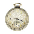 Timepieces:Pocket (post 1900), Ball 19 Jewels Open Face Pocket Watch. ...