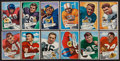 Football Cards:Sets, 1952 Bowman Large Football Partial Set (68/144) With Landry. ...