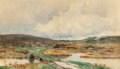 Fine Art - Painting, American:Antique  (Pre 1900), Hugh Bolton Jones (American, 1848-1927). Landscape withStream. Watercolor on paper. 10-3/4 x 18 inches (27.3 x 45.7cm)...