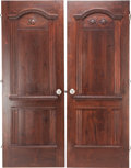 Decorative Prints, American, TWO AMERICAN PENNSYLVANIAN-STYLE UPHOLSTERED PINE CABINET DOORS,circa 1920. 73-1/4 inches high x 27-1/2 inches wide (186.1 ...(Total: 2 Items)