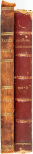 Books:Periodicals, [Bound Periodicals]. Pair of Nineteenth Century Periodicals Boundin Two Volumes. Yankee Doodle, Vol. I, Nos. 1-26, 1846...(Total: 2 Items)