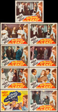 """Movie Posters:Adventure, Betrayal from the East (RKO, 1944). Lobby Card Set of 8 & LobbyCard (11"""" X 14""""). Adventure.. ... (Total: 9 Items)"""