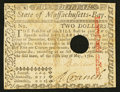 Colonial Notes:Massachusetts, Massachusetts May 5, 1780 $2 Hole Cancel Very Fine.. ...