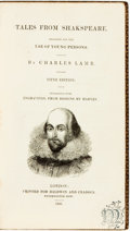 Books:Literature Pre-1900, Charles Lamb. Tales from Shakespeare. London: Baldwin andCradock, 1831. Fifth edition. Contemporary morocco ruled i...