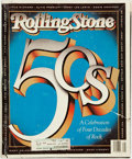 Books:Periodicals, [Periodical]. Rolling Stone, 50s: A Celebration of Four Decadesof Rock, Issue 576, April 19th, 1990. [New York:...