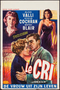 "Movie Posters:Foreign, The Cry (Royal Films, 1957). Belgian (14.25"" X 21.5""). Foreign.. ..."